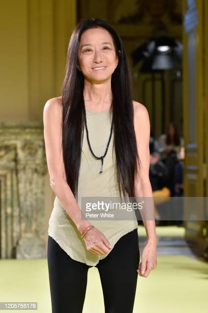Vera Wang acknowledges the applause of the public after the Vera Wang fashion show during February 2020 - New York Fashion Week on February 11, 2020...