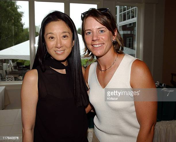 Vera Wang and Annika Sorenstam LPGA player during LPGA hosts an imagemaking seminar with top players and renowned style experts Vera Wang Trish...
