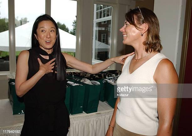 Vera Wang and Annika Sorenstam LPGA player during LPGA hosts an imagemaking seminar with top players and renowned style experts Vera Wang Trish...