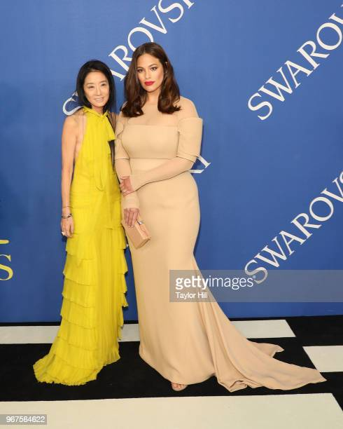 Vera Wang and Ashley Graham attend the 2018 CFDA Awards at Brooklyn Museum on June 4 2018 in New York City