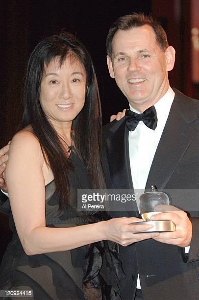 Vera Wang and Bernd Beetz CEO of Coty Inc with his Beautiful Apple Award