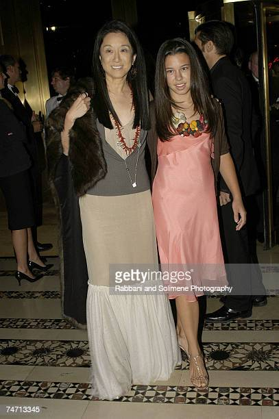 Vera Wang and daughter Cecilia Becker at the Cipriani in New York City New York