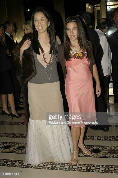 Vera Wang and daughter Cecilia Becker during 2004 New Yorkers for Children Annual Fall Benefit at Cipriani in New York City New York United States