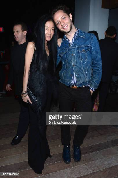 Vera Wang and Derek Blasberg attend the celebration of Dom Perignon Luminous Rose at Wall at W Hotel on December 6 2012 in Miami Beach Florida