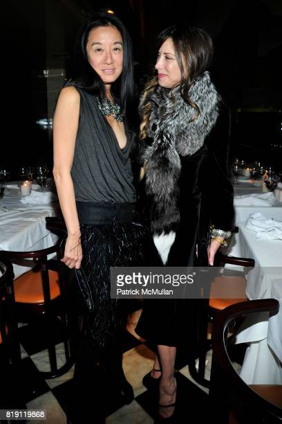 Vera Wang and Gela NashTaylor attend LARRY GAGOSIAN hosts a Private Dinner for the ANDREAS GURSKY Opening Exhibition at GAGOSIAN GALLERY at Mr Chow...