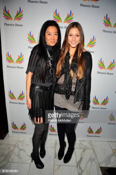 Vera Wang and Josephine Becker attend PHOENIX HOUSE Fashion Award Dinner at Empire Ballroom Grand Hyatt NYC on November 2, 2010 in New York City.