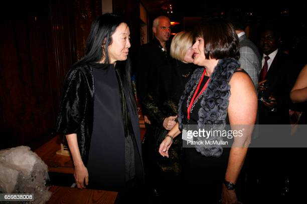 Vera Wang and Karin Sadove attend WOMEN IN NEED and CHARITYBUZZCOM celebrate the launch of HOME FOR THE HOLIDAYS online auction at Park Avenue Autumn...