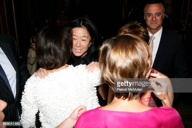 Vera Wang and Pamela Fiori attend 2009 commit to WIN annual benefit dinner honoring PAMELA FIORI at The Pierre on April 28 2009 in New York City