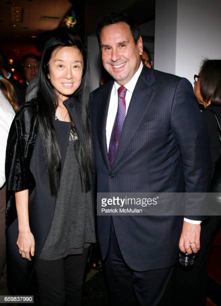 Vera Wang and Steve Sadove attend WOMEN IN NEED and CHARITYBUZZCOM celebrate the launch of HOME FOR THE HOLIDAYS online auction at Park Avenue Autumn...