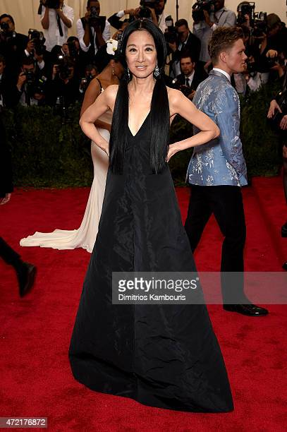"""Vera Wang attends the """"China: Through The Looking Glass"""" Costume Institute Benefit Gala at the Metropolitan Museum of Art on May 4, 2015 in New York..."""