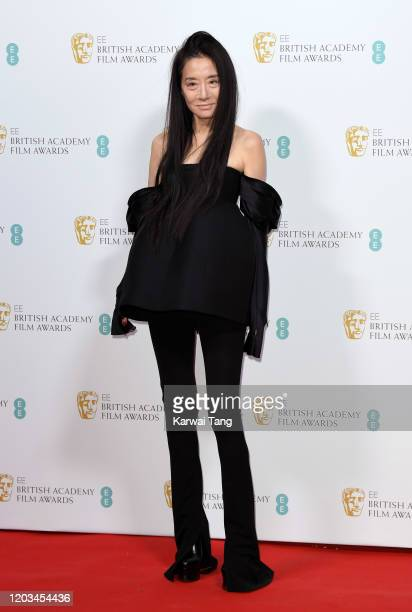 Vera Wang attends the EE British Academy Film Awards 2020 Nominees' Party at Kensington Palace on February 01 2020 in London England