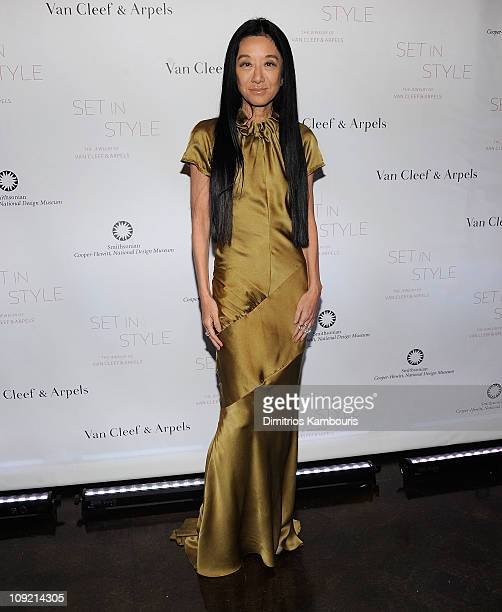 """Vera Wang attends the """"Set in Style: The Jewelry of Van Cleef & Arpels"""" opening gala at Cooper-Hewitt, National Design Museum on February 16, 2011 in..."""