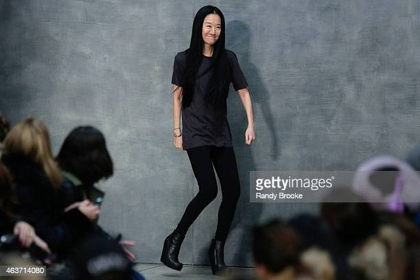 Vera Wang bows at the Vera Wang Collection Runway Show during Mercedes-Benz Fashion Week Fall 2015 at on February 17, 2015 in the Brooklyn borough of...