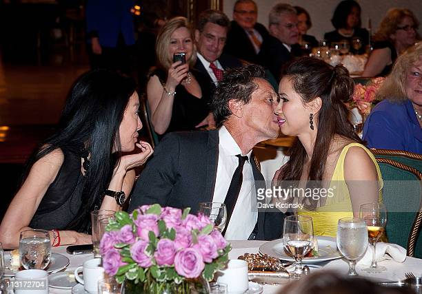 Vera Wang Brian Grazer and Chosan Nguyen attend the 3rd annual National Meningitis Association's Give Kids a Shot gala at the New York Athletic Club...