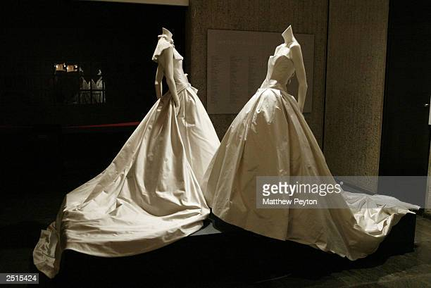 Vera Wang bridal exhibit at the Whitney Museum of American Art as part of the Wedding March On Madison September 20, 2003 in New York City.