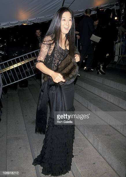 Vera Wang during 50th Anniversary Costume Institute Gala at Metropolitan Museum of Art in New York City New York United States