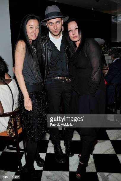 Vera Wang Hedi Slimane and Eva Chow attend LARRY GAGOSIAN hosts a Private Dinner for the ANDREAS GURSKY Opening Exhibition at GAGOSIAN GALLERY at Mr...