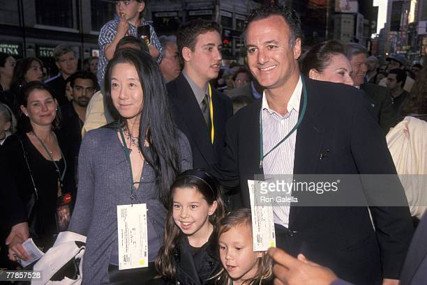 Vera Wang, husband Arthur Beck, and daughters Cecilia Becker and Josephine Becker