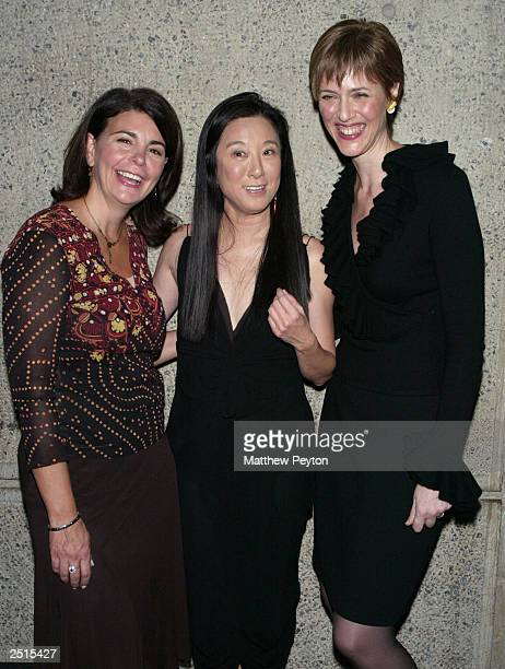 Vera Wang poses with Modern Bride EditorinChief Antonia van der Meer and Bride's EditorinChief Millie Martini Eratten at the Whitney Museum of...