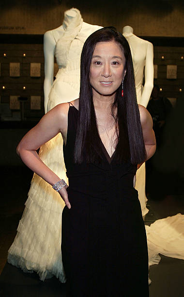 Vera Wang Poses With The Bridal Exhibit At Whitney Museum Of American Art