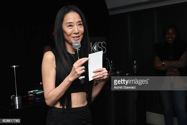 Vera Wang speaks at the Vera Wang LOVE holiday cocktail soiree at Betony on December 7 2016 in New York City