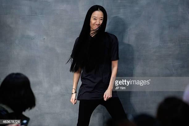 Vera Wang walks the runway at the Vera Wang fashion show during Mercedes-Benz Fashion Week Fall 2015 on February 17, 2015 in New York City.