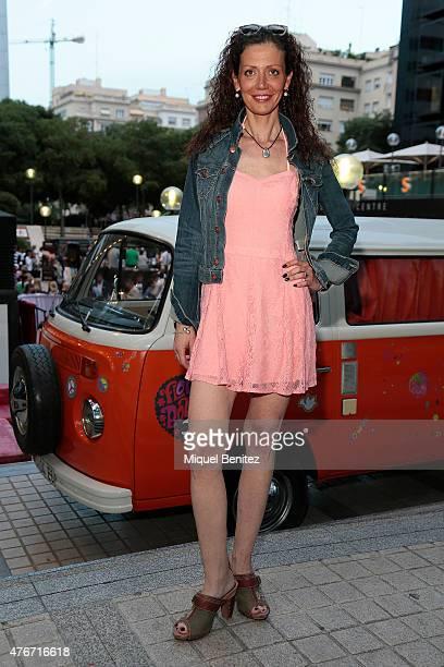 Vera wears a Hollister dress Michael Kors handbag Replay shoes Gloria Ortiz sun glasses Tiffany and Puigdoria jewelry on June 11 2015 in Barcelona...