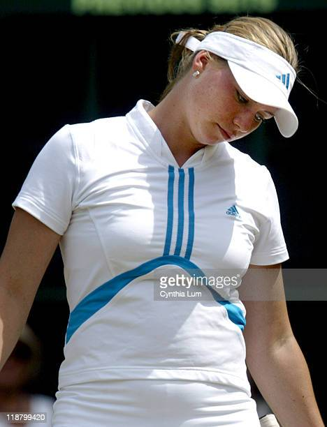 Vera Zvonareva of Russia lost to Lindsay Davenport of the United States 46 46 during the fourth round of the Wimbledon Championships in London Great...