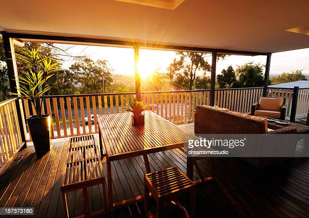 Veranda at sunset