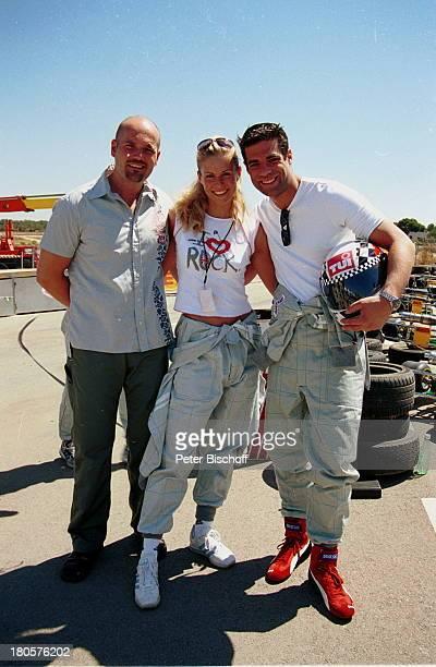Veranstalter Thomas Krauß Eve Scheer Carsten Spengemann Star Kart Rennen 2001 Mallorca/Spanien GoKart Kappe Overall Reifen
