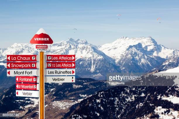 verbier ski station. switzerland