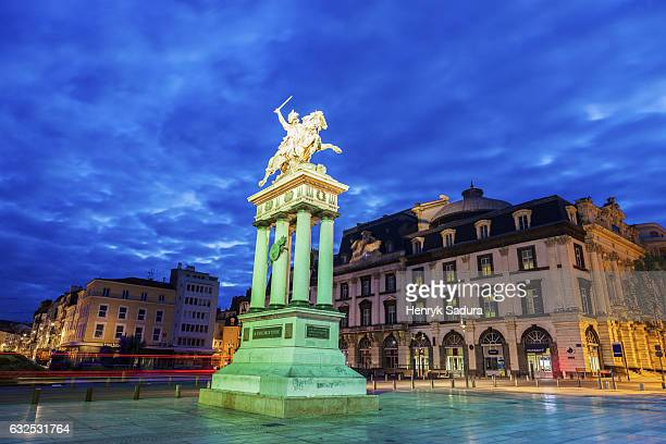 vercingetorix statue in clermont-ferrand, france - auvergne rhône alpes stock photos and pictures