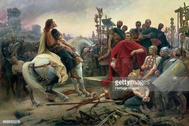 Vercingetorix throws down his arms at the feet of Julius Caesar 1899 Found in the Collection of Musée Crozatier Le Puy en Velay