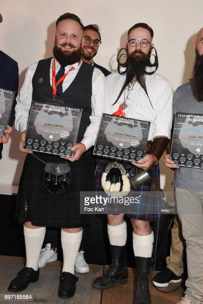 Verdi Beard awarded Yoann Caton and Audacious beard winner Richard Palatchi attend ÊFrance Beard Championship 2017 Hosted by Beardilizer at Cite de...