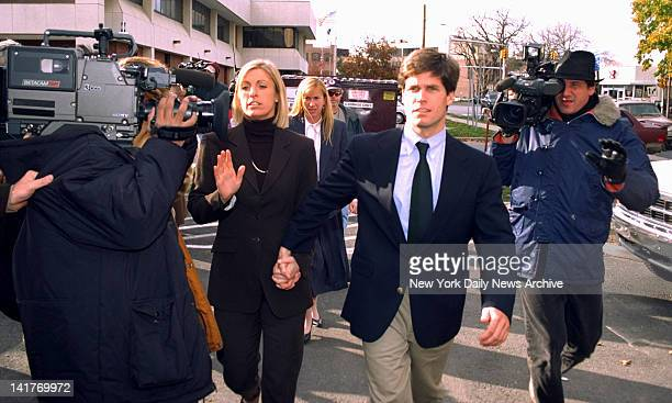 Verdict in Alex Kelly trial Alex Kelly and girlfriend Amy Molitor walk hand in hand outside Stamford Conn courthouse after judge declared jury...