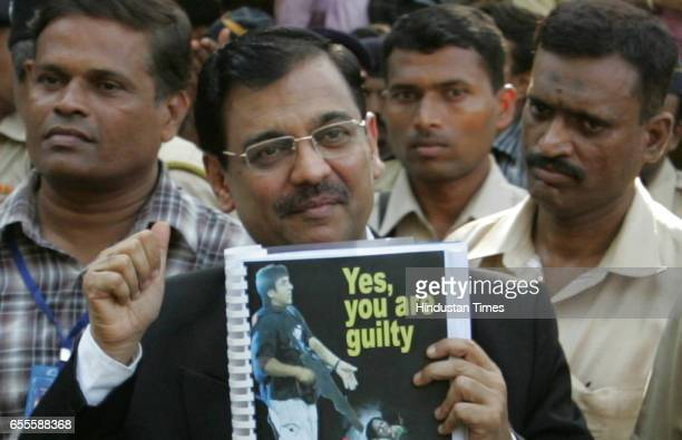 Verdict Special Public Prosecutor Ujjwal Nikam wears a smile after Mohammed Ajmal Amir Kasab the lone surviving LashkareTayyaba terrorist in the...