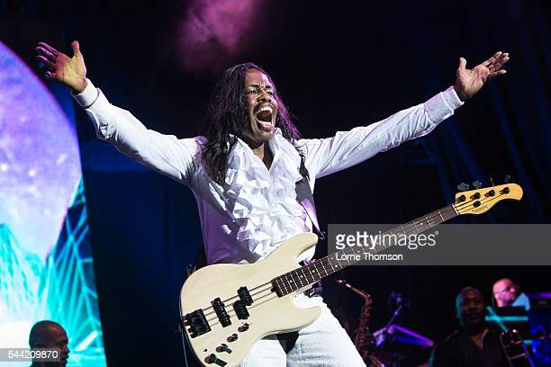 Verdine White of Earth Wind And Fire performs at The O2 Arena on July 1 2016 in London England