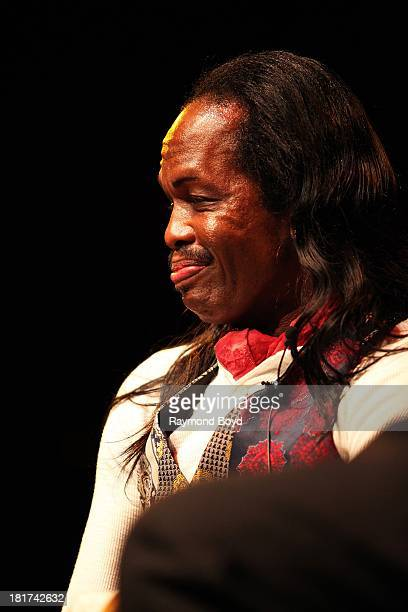 Verdine White of Earth Wind Fire is interviewed during The Experience With Earth Wind Fire at the DuSable Museum in Chicago Illinois on SEPTEMBER 19...
