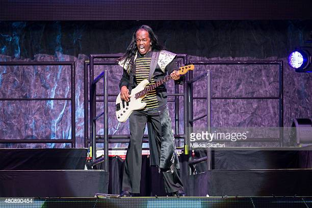 Verdine White of Earth Wind Fire performs at Concord Pavilion on July 15 2015 in Concord California