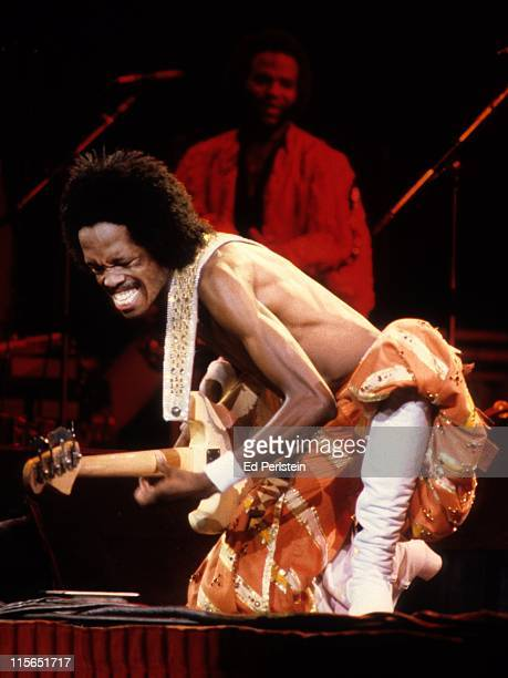 Verdine White performs with Earth Wind and Fire at the Oakland Coliseum in Oakland California December 1 1979