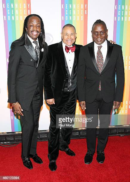 Verdine White, Ralph Johnson, and Philip Bailey of Earth, Wind and Fire arrive at the 37th Annual Kennedy Center Honors at the John F. Kennedy Center...