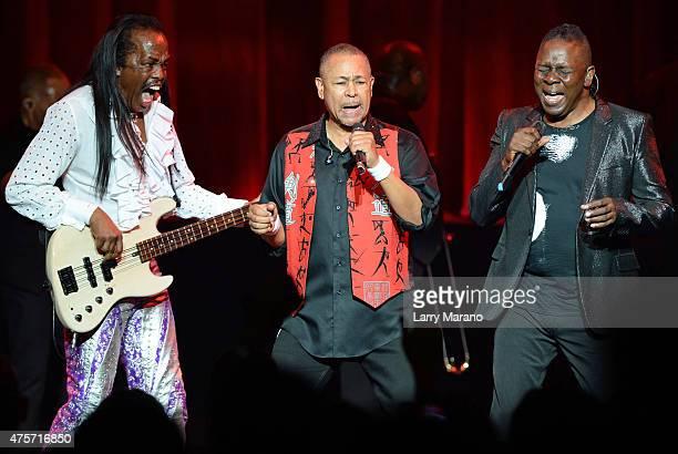 Verdine White Ralph Johnson and Philip Bailey of Earth Wind Fire perform at The Fillmore on June 2 2015 in Miami Beach Florida