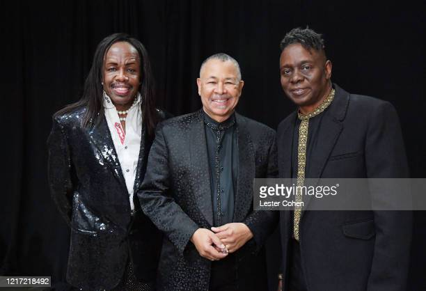 Verdine White Ralph Johnson and Philip Bailey of Earth Wind Fire attend the 62nd Annual GRAMMY Awards Let's Go Crazy The GRAMMY Salute To Prince on...