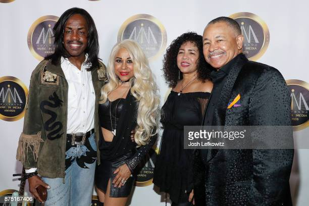 Verdine White Shelly Clark and Ralph Johnson of Earth Wind and Fire attend the 8th Annual Hollywood Music in Media Awards at the Avalon Hollywood on...