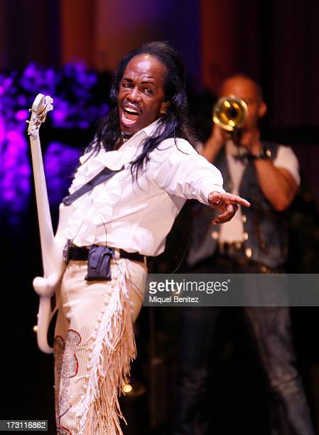 Verdine Whote of Earth Wind And Fire performs on stage at the 'Jardins de Pedralbes Festival' on July 7 2013 in Barcelona Spain