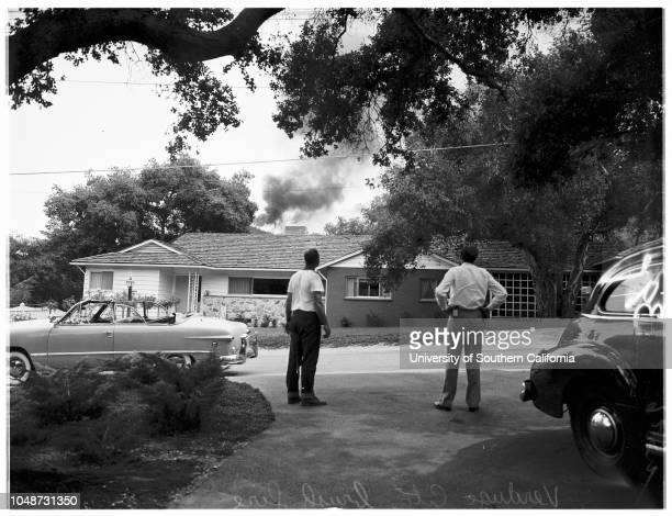 Verdugo City brush fire 13 August 1951 Jerry Kennedy 15 years general views of brush fireVerdugo City