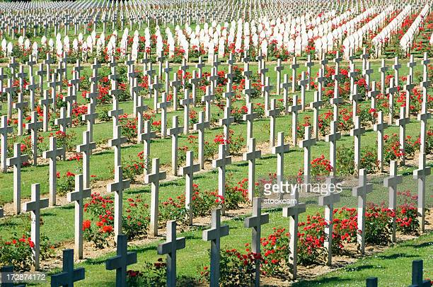 wwi verdun military cemetery france - world war i stock pictures, royalty-free photos & images