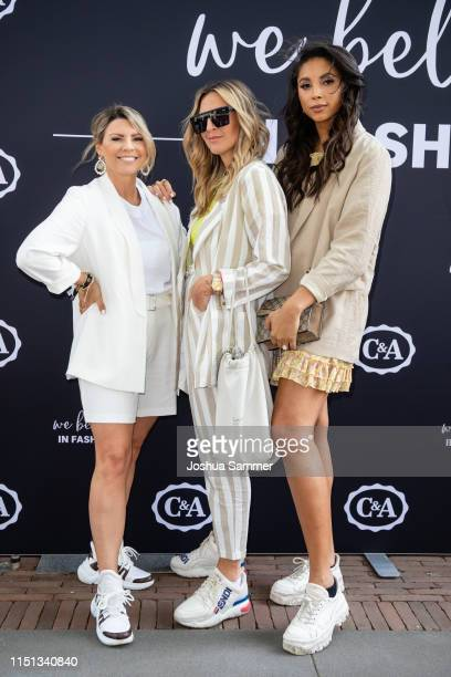 Verena Ahmann Julia Steyns and Sandra Ebert attend the CA collection room event on May 23 2019 in Essen Germany