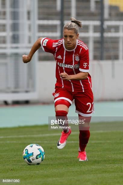 Verena Faisst of Bayern Muenchen in action during the women Bundesliga match between Bayern Muenchen and SC Freiburg at Stadion an der Gruenwalder...