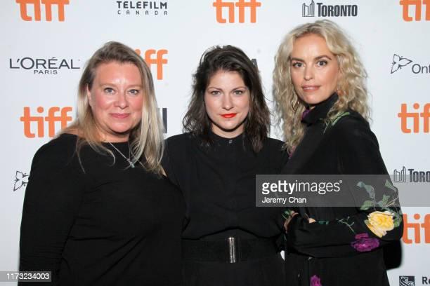 "Verena Gräfe-Höft, Katrin Gebbe, and Nina Hoss attend the ""Pelican Blood"" photo call during the 2019 Toronto International Film Festival at..."